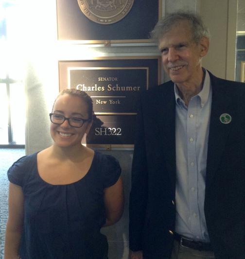 Jay with Morgan at Senator Schumer office