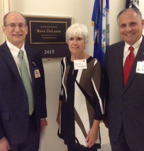 Pat Outside Rep. DeLauro's Office 504